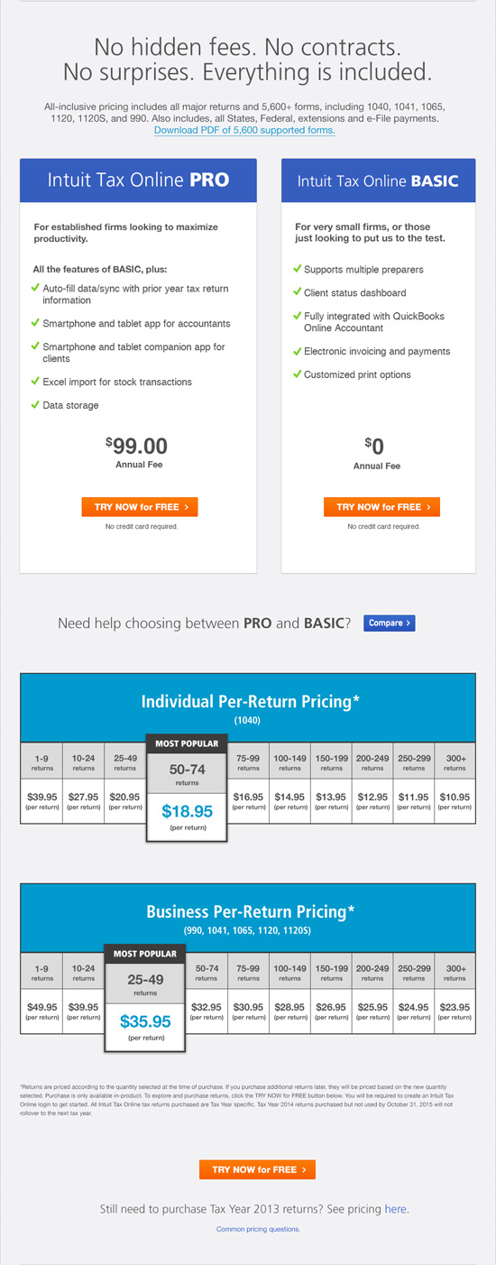 Intuit Pricing Photo